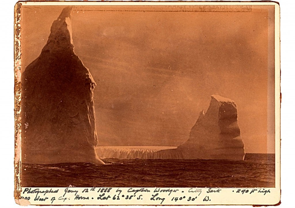 An iceberg photographed by Captain Woodget off Cape Horn © Cutty Sark Trust