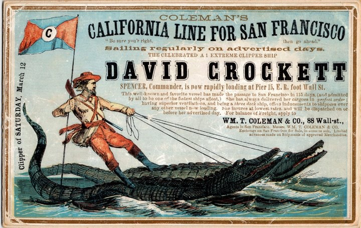 One of my personal favorite California Clipper advertising cards.